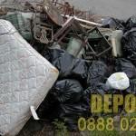 Изхвърляне на отпадъци и стари мебели в града