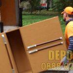 Изхвърляне на стари мебели от бригада в София