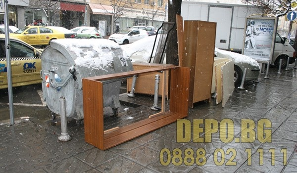 Извозване на мебели от центъра на София