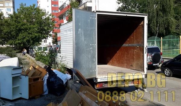 Извозване на строителни и битови боклуци в София