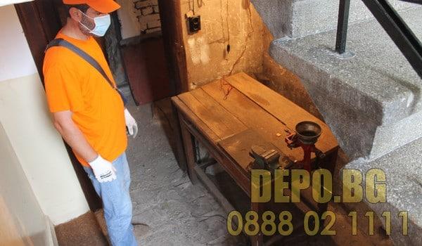 Депо за извозване на стари мебели в столична община