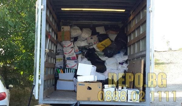 почистване и извозване на боклуци в Софийско