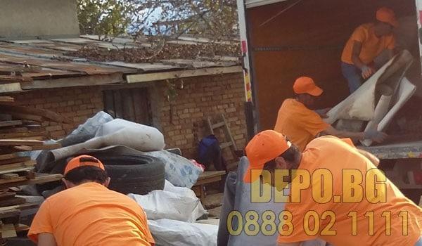 Изнасяне и изхвърляне на строителни материали